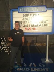 Lawrence attended Klos Presents: Deep Purple and Judas Priest on Sep 27th 2018 via VetTix
