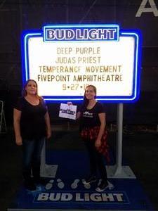 Crystal attended Klos Presents: Deep Purple and Judas Priest on Sep 27th 2018 via VetTix