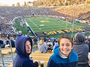 Jonathan attended University of California Berkeley Bears vs. UCLA Bruins - NCAA Football on Oct 13th 2018 via VetTix