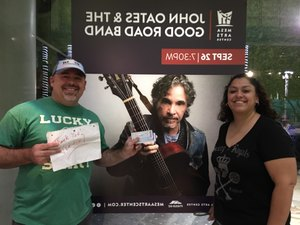 Anthony attended John Oates and the Good Road Band on Sep 26th 2018 via VetTix