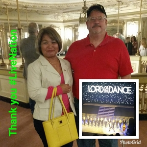 Vincent and Nancy attended Lord of the Dance - Dangerous Games - Dance on Oct 20th 2018 via VetTix