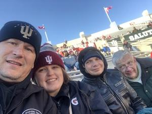 Michelle attended Indiana Hoosiers vs. Maryland Terrapins - NCAA Football - Time TBA on Nov 10th 2018 via VetTix