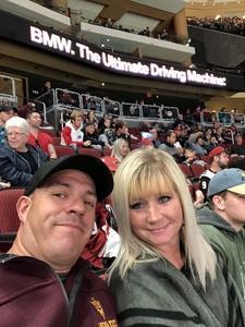 Rob attended Arizona Coyotes vs. Buffalo Sabres - NHL on Oct 13th 2018 via VetTix