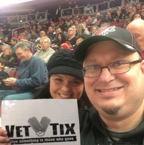 Bradlee attended Arizona Coyotes vs. Buffalo Sabres - NHL on Oct 13th 2018 via VetTix