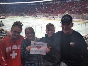 Chief66 attended Arizona Coyotes vs. Buffalo Sabres - NHL on Oct 13th 2018 via VetTix