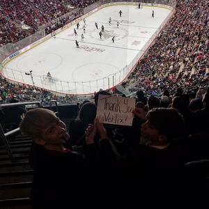 Sidney attended Arizona Coyotes vs. Buffalo Sabres - NHL on Oct 13th 2018 via VetTix