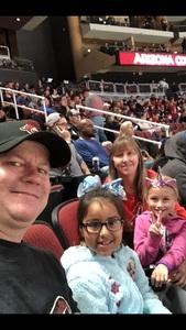 Jim K attended Arizona Coyotes vs. Buffalo Sabres - NHL on Oct 13th 2018 via VetTix