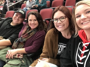 Aubrie attended Arizona Coyotes vs. Buffalo Sabres - NHL on Oct 13th 2018 via VetTix