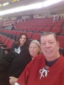 Charles attended Arizona Coyotes vs. Buffalo Sabres - NHL on Oct 13th 2018 via VetTix