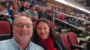 Leonard attended Arizona Coyotes vs. Buffalo Sabres - NHL on Oct 13th 2018 via VetTix