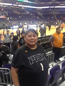 Alvina attended Phoenix Suns vs. Portland Trail Blazers - NBA on Oct 5th 2018 via VetTix