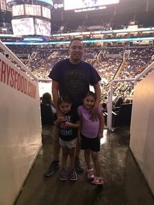 Arsenio attended Phoenix Suns vs. Portland Trail Blazers - NBA on Oct 5th 2018 via VetTix
