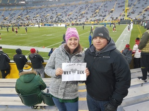 Maranda attended Green Bay Packers vs. San Francisco 49ers - NFL on Oct 15th 2018 via VetTix