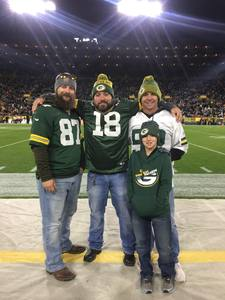 Dustin attended Green Bay Packers vs. San Francisco 49ers - NFL on Oct 15th 2018 via VetTix