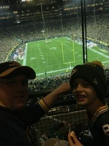 James attended Green Bay Packers vs. San Francisco 49ers - NFL on Oct 15th 2018 via VetTix