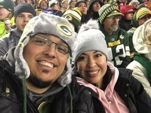 Hustavo attended Green Bay Packers vs. San Francisco 49ers - NFL on Oct 15th 2018 via VetTix