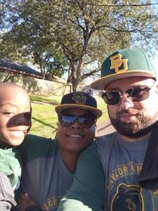 Joseph attended Baylor vs. Oklahoma State - NCAA Football on Nov 3rd 2018 via VetTix