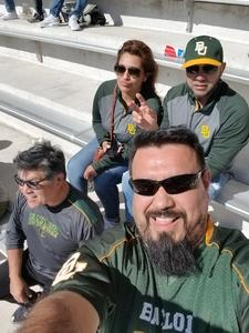 Miguel attended Baylor vs. Oklahoma State - NCAA Football on Nov 3rd 2018 via VetTix
