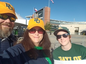Chad attended Baylor vs. Oklahoma State - NCAA Football on Nov 3rd 2018 via VetTix