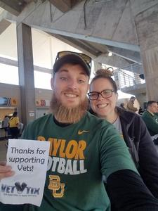 Jarod attended Baylor vs. Oklahoma State - NCAA Football on Nov 3rd 2018 via VetTix