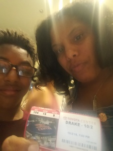 Jene attended Drake With Migos on Oct 2nd 2018 via VetTix