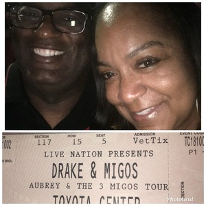 TERRY attended Drake With Migos on Oct 2nd 2018 via VetTix