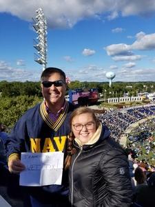 Scott attended Navy Midshipmen vs. Temple Owls - NCAA Football on Oct 13th 2018 via VetTix