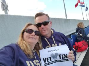 Darrell attended Navy Midshipmen vs. Temple Owls - NCAA Football on Oct 13th 2018 via VetTix