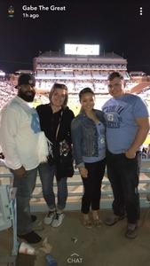 Rosie attended North Carolina Tar Heels vs. Virginia Tech Hokies - NCAA Football on Oct 13th 2018 via VetTix