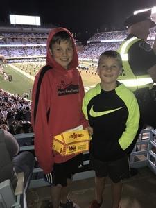 Aaron attended North Carolina Tar Heels vs. Virginia Tech Hokies - NCAA Football on Oct 13th 2018 via VetTix