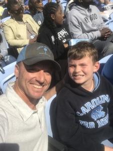 Brandon attended North Carolina Tar Heels vs. Georgia Tech Yellow Jackets - NCAA Football - Time TBA on Nov 3rd 2018 via VetTix
