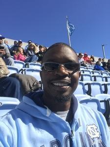 Rodney attended North Carolina Tar Heels vs. Georgia Tech Yellow Jackets - NCAA Football - Time TBA on Nov 3rd 2018 via VetTix