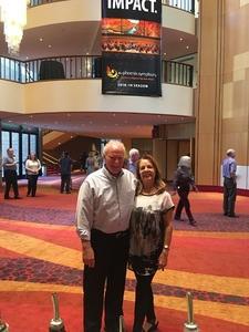 William attended The Phoenix Symphony- Tchaikovskyas Fourth and Rachel Barton Pine - Sunday Matinee on Oct 14th 2018 via VetTix