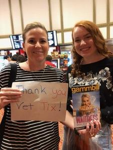 Keith attended Waitress - ASU Gammage on Oct 4th 2018 via VetTix
