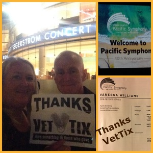 William attended Vanessa Williams - Presented by the Pacific Symphony on Oct 13th 2018 via VetTix