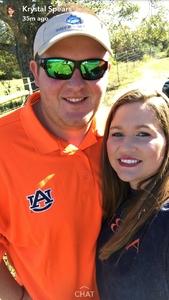 Wayne attended Auburn University Tigers vs. Texas A&M - NCAA Football on Nov 3rd 2018 via VetTix