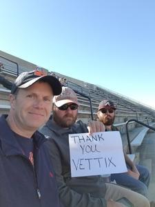 Kevin attended Auburn University Tigers vs. Texas A&M - NCAA Football on Nov 3rd 2018 via VetTix