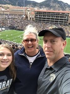 Montell attended Colorado Buffaloes vs. Oregon State - NCAA Football on Oct 27th 2018 via VetTix