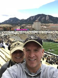 Eric & Katherine Hauff attended Colorado Buffaloes vs. Oregon State - NCAA Football on Oct 27th 2018 via VetTix