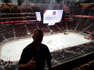 Brian attended Arizona Coyotes vs. Vancouver Canucks - NHL on Oct 25th 2018 via VetTix
