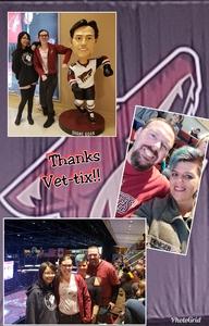 Ryan attended Arizona Coyotes vs. Vancouver Canucks - NHL on Oct 25th 2018 via VetTix