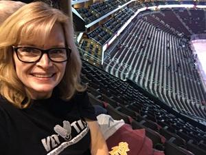 Hollee attended Arizona Coyotes vs. Vancouver Canucks - NHL on Oct 25th 2018 via VetTix