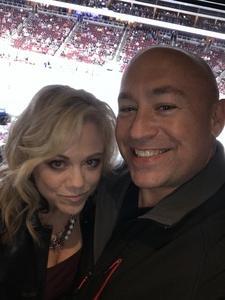 James attended Arizona Coyotes vs. Vancouver Canucks - NHL on Oct 25th 2018 via VetTix