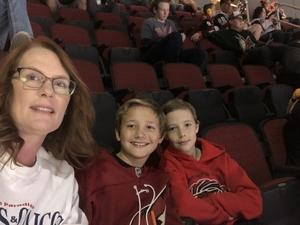 Edie attended Arizona Coyotes vs. Vancouver Canucks - NHL on Oct 25th 2018 via VetTix