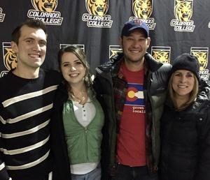 Paula attended Colorado College Tigers vs. Miami University - NCAA Hockey on Nov 16th 2018 via VetTix