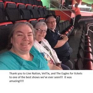Michael attended Eagles - Live on Oct 14th 2018 via VetTix