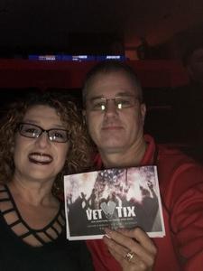 Debi attended Eagles - Live on Oct 14th 2018 via VetTix