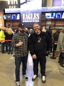 robert attended Eagles - Live on Oct 14th 2018 via VetTix