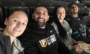 AMANDA attended San Jose Sharks vs. Minnesota Wild - NHL on Nov 6th 2018 via VetTix