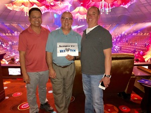Keith, Bob, and Arnel attended Le Reve on Oct 15th 2018 via VetTix